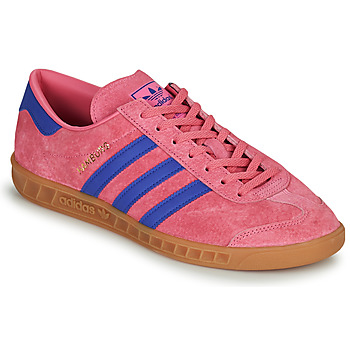 adidas HAMBURG men's Shoes (Trainers) in Pink. Sizes available:5,6.5,8,9.5,11,4.5,5.5,6,7,7.5,8.5,9,10,10.5,11.5,12