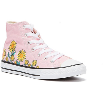 Converse All Star Sunflower Hi Junior Pink Trainers men's Shoes (High-top Trainers) in Pink. Sizes available:11 kid,13 kid,1