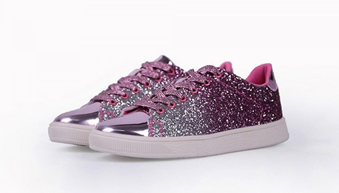 Women's Glitter Trainers - 4 Colours & 4 Sizes